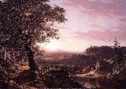 Frederic Edwin Church July Sunset oil