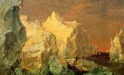 Frederic Edwin Church Icebergs and Wreck in Sunset oil