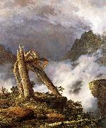 Frederic Edwin Church Storm in the Mountains oil