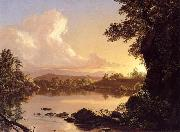 Frederic Edwin Church Scene on the Catskill Creek oil
