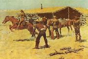Frederick Remington Coming and Going of the Pony Express oil painting picture wholesale