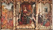 GALLEGO, Fernando Triptych of St Catherine  dfg oil