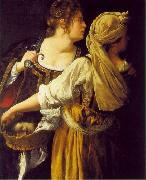 GENTILESCHI, Artemisia Judith and her Maidservant  sdg oil painting picture wholesale