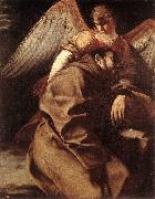 GENTILESCHI, Orazio St Francis Supported by an Angel sdgh oil painting picture wholesale