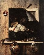 GIJBRECHTS, Cornelis Still-Life with Self-Portrait fgh oil