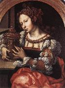 GOSSAERT, Jan (Mabuse) Lady Portrayed as Mary Magdalene sdf oil painting artist