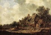 GOYEN, Jan van Peasant Huts with a Sweep Well sdg oil painting picture wholesale