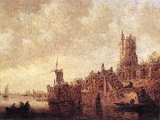 GOYEN, Jan van River Landscape with a Windmill and a Ruined Castle sdg oil painting picture wholesale