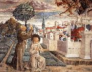 GOZZOLI, Benozzo Scenes from the Life of St Francis (Scene 6, north wall) g oil painting picture wholesale