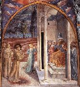 GOZZOLI, Benozzo Scenes from the Life of St Francis (Scene 10, north wall) dry oil painting picture wholesale