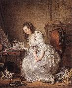 GREUZE, Jean-Baptiste The Broken Mirror sd oil painting picture wholesale