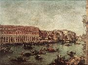 GUARDI, Francesco The Grand Canal at the Fish Market (Pescheria) dg oil