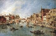 GUARDI, Francesco The Three-Arched Bridge at Cannaregio sdg oil