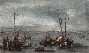 GUARDI, Francesco The Lagoon Looking toward Murano from the Fondamenta Nuove sdg oil