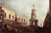 GUARDI, Francesco Carnival Thursday on the Piazzetta dgs oil
