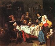 Gabriel Metsu The Bean Feast Germany oil painting reproduction