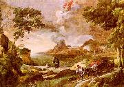 Gaspard Dughet Landscape with St.Augustine and the Mystery of the Trinity oil painting artist