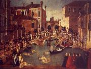 Gentile Bellini The Miracle of the True Cross near the San Lorenzo oil painting artist