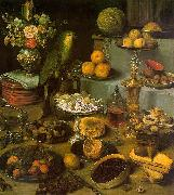 Georg Flegel Large Food Display oil painting artist