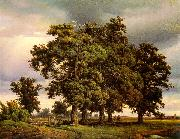 Georg-Heinrich Crola Oak Trees oil painting artist
