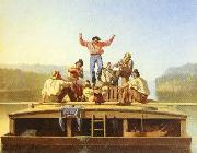 George Caleb Bingham The Jolly Flatboatmen oil painting picture wholesale