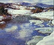 George Gardner Symons Valley Stream in Winter oil painting artist