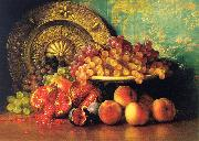 George Henry Hall Figs, Pomegranates, Grapes and Brass Plate oil painting picture wholesale