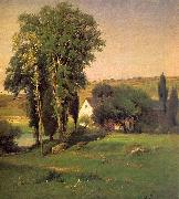 George Inness Old Homestead oil painting artist