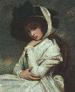 George Romney Lady Hamilton in a Straw Hat oil painting picture wholesale