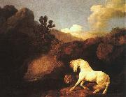 George Stubbs A Horse Frightened by a Lion oil painting artist