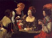 Georges de La Tour The Cheat with the Ace of Diamonds oil painting picture wholesale