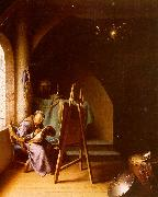 Gerrit Dou Man Writing in an Artist's Studio oil painting picture wholesale