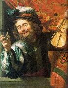 Gerrit van Honthorst The Merry Fiddler oil painting picture wholesale