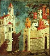 Giotto The Devils Cast Out of Arezzo oil painting picture wholesale