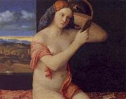 Giovanni Bellini Young Woman at her Toilet oil painting artist