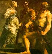 Giuseppe Maria Crespi Aeneas with the Sybil Charon oil painting picture wholesale