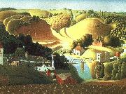 Grant Wood Stone City, Iowa oil painting picture wholesale