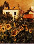 Gustave Caillebotte Sunflowers, Garden at Petit Gennevilliers Germany oil painting reproduction