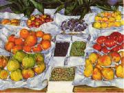 Gustave Caillebotte Fruit Displayed on a Stand oil painting artist