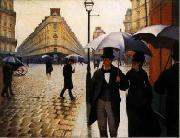 Gustave Caillebotte Paris Street, Rainy Weather oil painting artist
