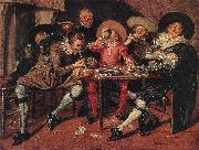 HALS, Dirck Amusing Party in the Open Air s oil