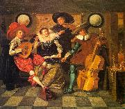 HALS, Dirck Amusing Party in the Open Air (detail) g oil painting picture wholesale