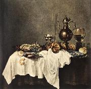 HEDA, Willem Claesz. Breakfast of Crab  sdg oil painting artist