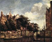 HEYDEN, Jan van der Amsterdam, Dam Square with the Town Hall and the Nieuwe Kerk s oil painting artist