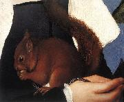 HOLBEIN, Hans the Younger Portrait of a Lady with a Squirrel and a Starling (detail) sf oil painting picture wholesale