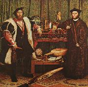 Hans Holbein The Ambassadors oil painting picture wholesale