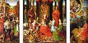 Hans Memling Triptych of St.John the Baptist and St.John the Evangelist oil painting picture wholesale