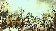 Hendrick Avercamp Winter Landscape oil painting artist