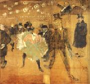 Henri De Toulouse-Lautrec Dancing at he Moulin Rouge oil painting picture wholesale