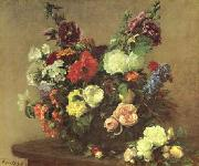 Henri Fantin-Latour Bouquet de Fleurs Diverses oil painting picture wholesale